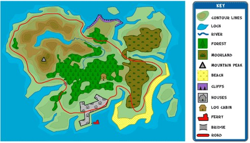 Geography island map 1 map key gumiabroncs Images