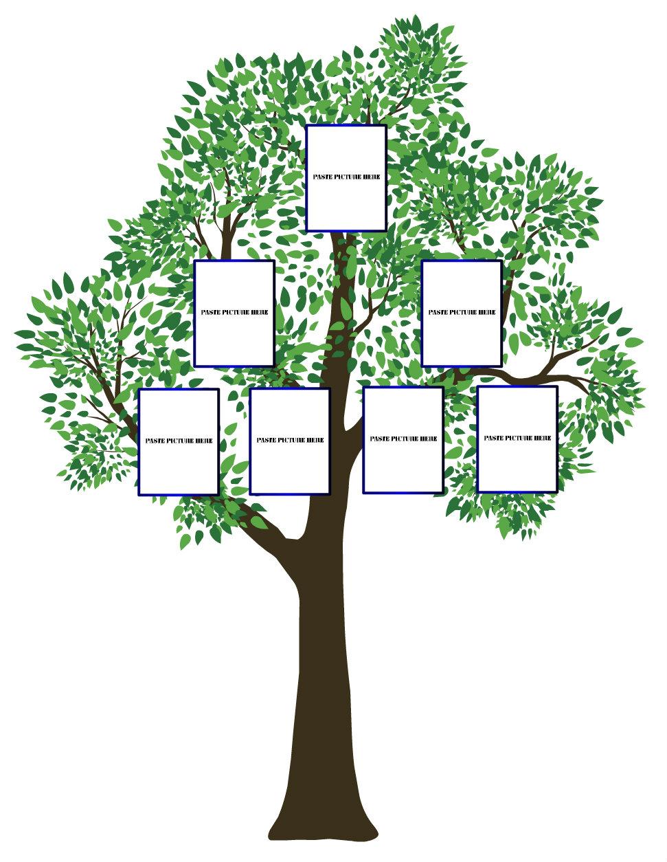 Free Editable Family Tree Template - Daily Roabox | Daily ... |Empty Family Tree